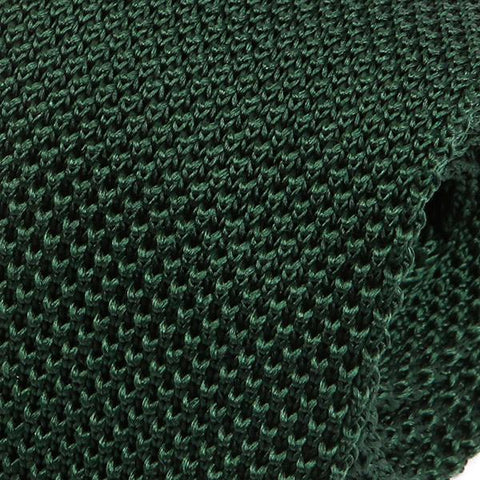 Rich Green Silk Knitted Tie