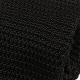 Jet Black Silk Knitted Tie