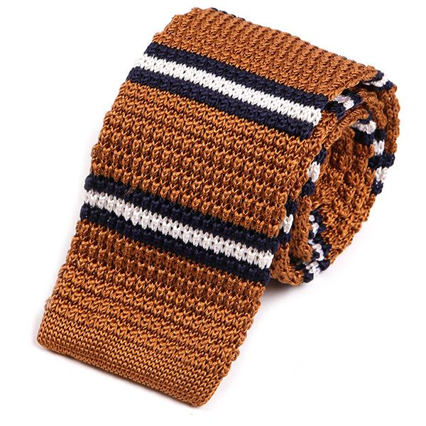 Peterson Striped Silk Knitted Tie