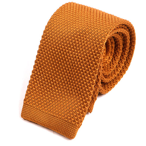 Bronze Knitted Tie - Handmade Silk Wool And Knitted Ties by Tie Doctor
