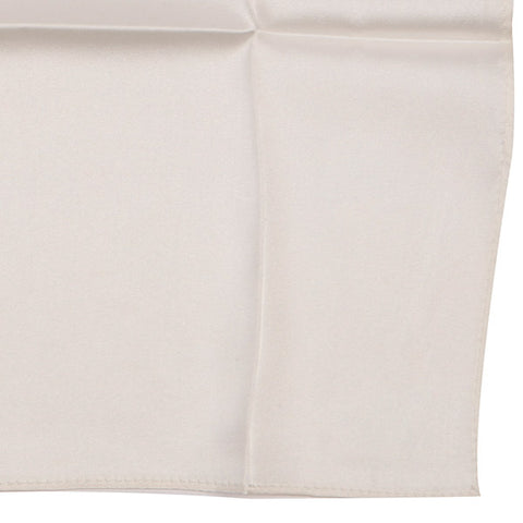 Chalk White Silk Pocket Square