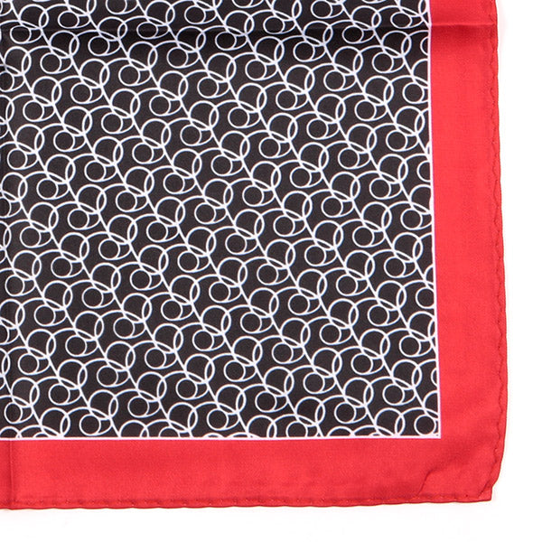 Red Circular Pattern Pocket Square