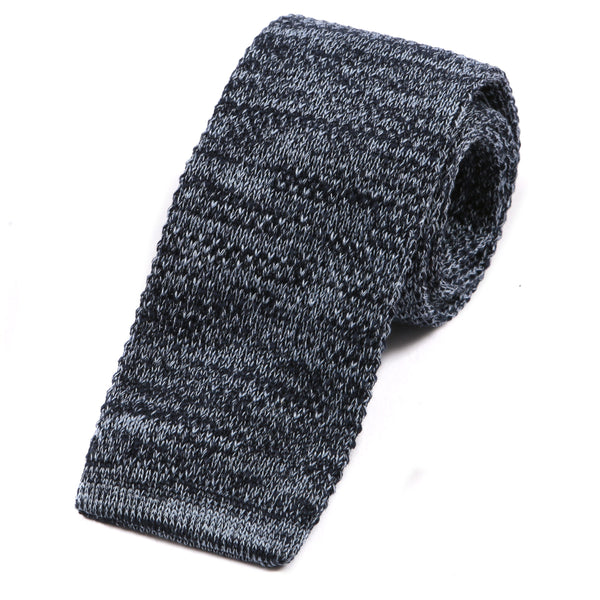 Washed Navy Denim-Styled Knit Tie