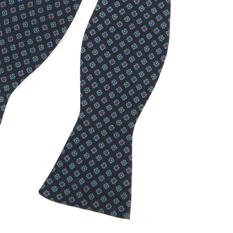 Navy Jewel Self-Tie Bow Tie - Handmade Limited Edition Ties by Tie Doctor