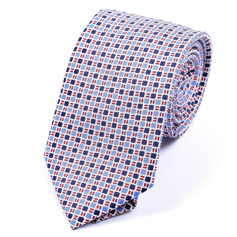 White & Blue Fusion Silk Tie