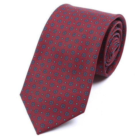Rich Red & Blue Silk Tie