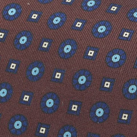 Brown & Blue Silk Tie - TIE DOCTOR online