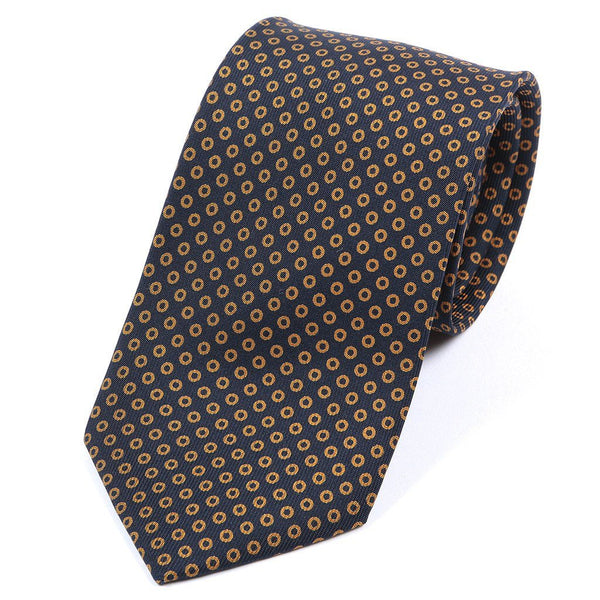 Black & Brown Cirlce Silk Tie - TIE DOCTOR online