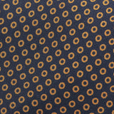 Black & Brown Circle Silk Tie