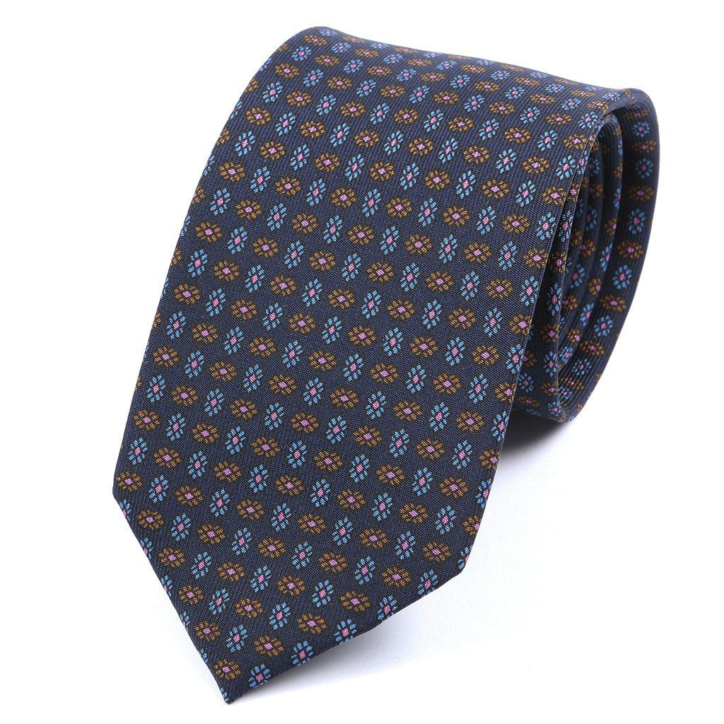 Navy Silk Tie - Handmade Limited Edition Ties by Tie Doctor