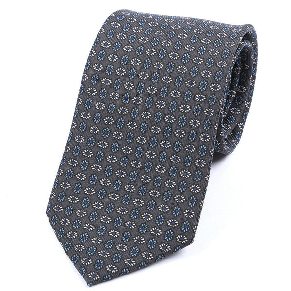 Grey & Blue Hint Silk Tie