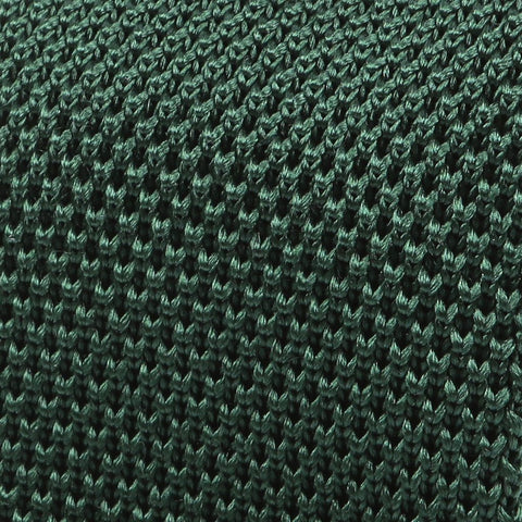 Dark Green Silk Pointed Knitted Tie - Handmade Limited Edition Ties by Tie Doctor
