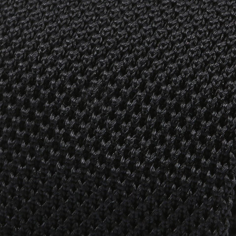 Black Silk Pointed Knitted Tie - TIE DOCTOR online