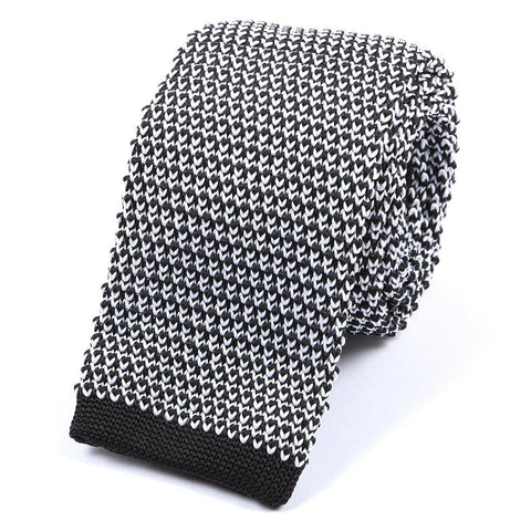 Black & White Knitted Tie - TIE DOCTOR online