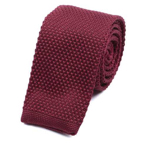 Best seller Rich Burgundy Knitted Tie - Handmade Silk Wool And Knitted Ties by Tie Doctor