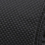 Black Knitted Tie - Handmade Silk Wool And Knitted Ties by Tie Doctor