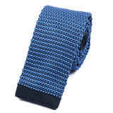 Dark Blue Knitted Tie - Handmade Silk Wool And Knitted Ties by Tie Doctor