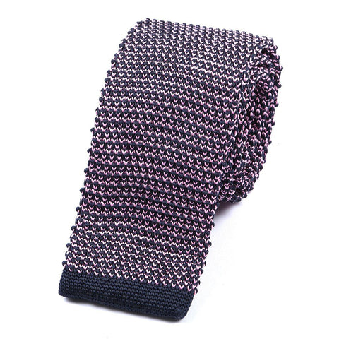 Pink Knitted Tie - Handmade Limited Edition Ties by Tie Doctor