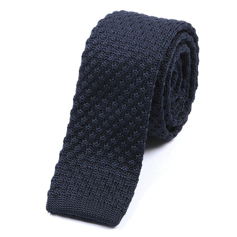 Raised Navy Knitted Tie