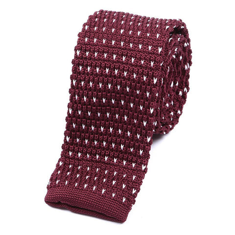 Best seller Red Starred Knitted Tie - Handmade Silk Wool And Knitted Ties by Tie Doctor