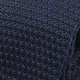 Slim Navy Blue Knitted Tie