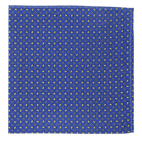 Limited Edition Blue & Yellow Silk Pocket Square