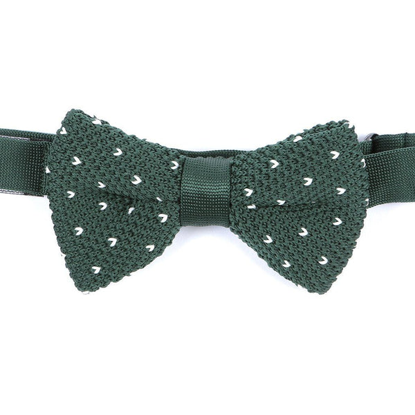 Green Starred Knitted Bow Tie - TIE DOCTOR online