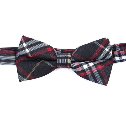 Blue & Red Check Bow Tie