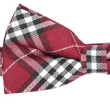 Red & Black Check Bow Tie - Handmade Limited Edition Ties by Tie Doctor