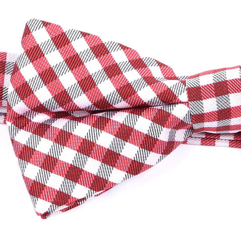 Red Check Bow Tie - Handmade Limited Edition Ties by Tie Doctor