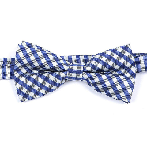 Blue & White Check Bow Tie - TIE DOCTOR online