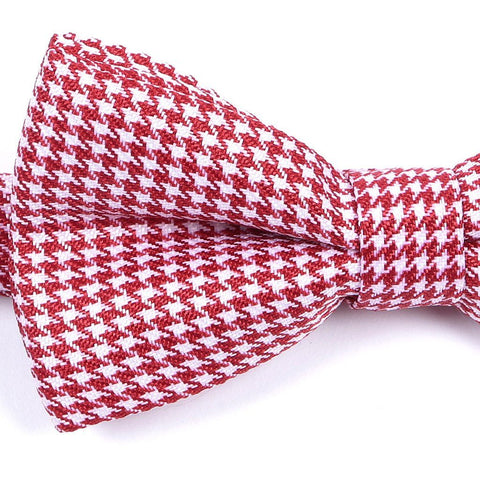 Red & White Bow Tie - Handmade Limited Edition Ties by Tie Doctor