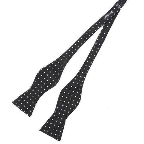Black & White Polka Dot Self-Tie Bow Tie - TIE DOCTOR online