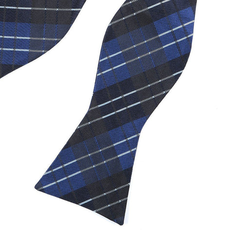Blue Check Self-Tie Bow Tie - TIE DOCTOR online