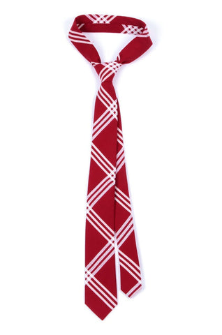 Slim Red Check Cotton Tie