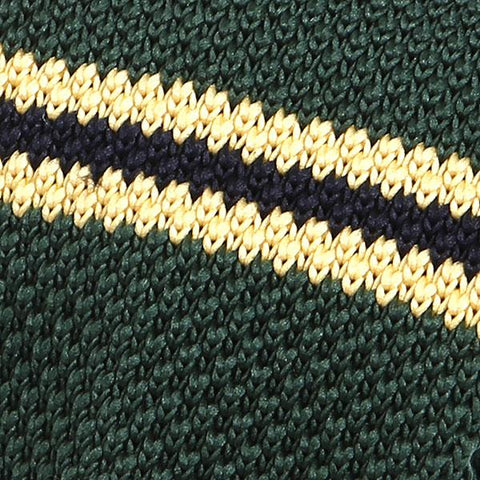 Green & Yellow Knit Tie