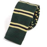 Green & Yellow Knit Tie - Handmade Limited Edition Ties by Tie Doctor