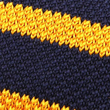 Navy & Yellow Knit Tie