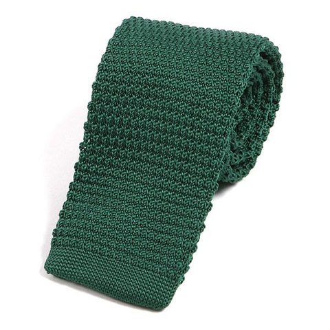 Light green knit tie - Handmade Silk Wool And Knitted Ties by Tie Doctor