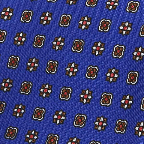 Blue floral patterned silk tie - Handmade Silk Wool And Knitted Ties by Tie Doctor