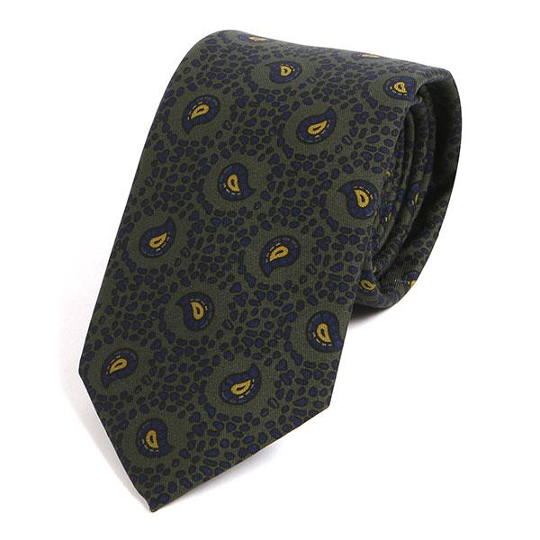 Dark Green Vintage Macclesfield Silk Tie - Handmade Silk Wool And Knitted Ties by Tie Doctor