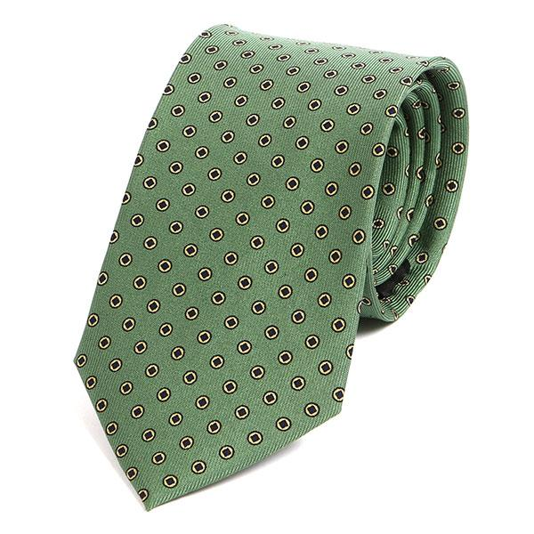 Retro light green silk tie