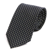 Bestseller Navy & White Circles Silk Tie - Handmade Silk Wool And Knitted Ties by Tie Doctor