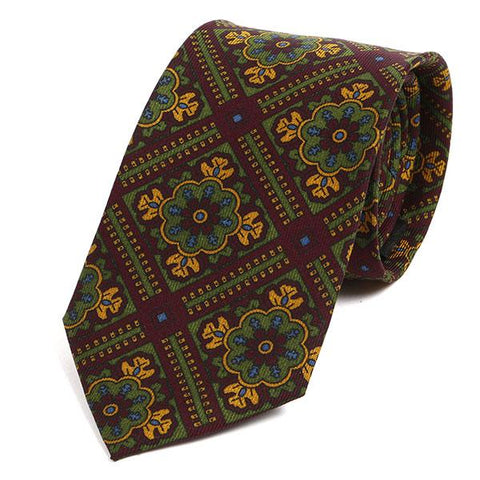 Vintage Burgundy Red Silk Tie