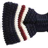 Navy Nicholas bow tie - Handmade Silk Wool And Knitted Ties by Tie Doctor