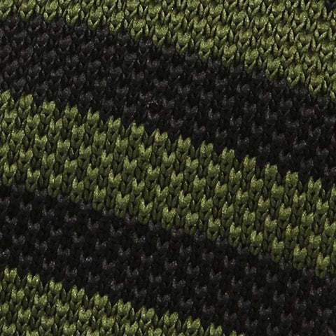 Olive green knit tie - Handmade Limited Edition Ties by Tie Doctor