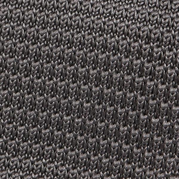 Plain grey knitted tie - Handmade Limited Edition Ties by Tie Doctor