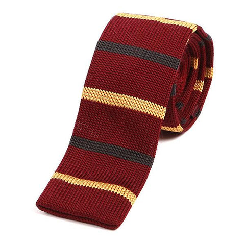Red multicoloured knit tie - Handmade Limited Edition Ties by Tie Doctor