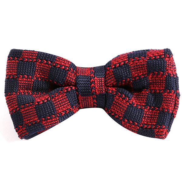 Red Patch Patterned Bow Tie
