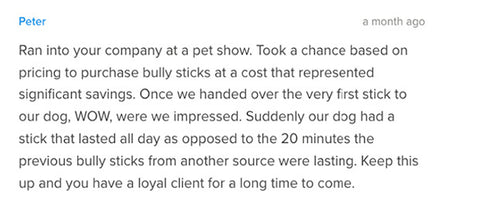 Loyalty Dog Treats testimonial